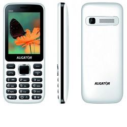 Aligator D930 Dual sim bílo-černý mobilní telefon