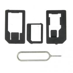 Noosy Adaptér pro nano a microSIM karty + jehla