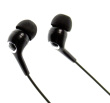 STEREO sluchátka MP3, MP4 3.5 jack, černé, špunty