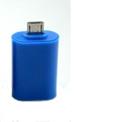 ALIGATOR OTG Adaptér microUSB/USB modrý