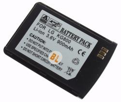 Baterie LG KG800 Li-ION 900 mAh černá neoriginální