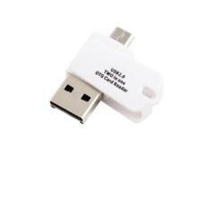 ALIGATOR CTK0018WT Čtečka karet 2in1 OTG microSD