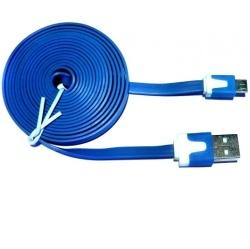 Aligator Datový kabel micro USB NOODLE blue