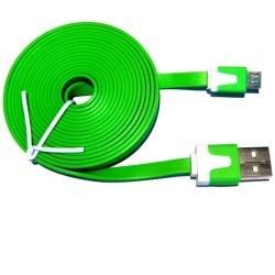 Aligator Datový kabel micro USB NOODLE green