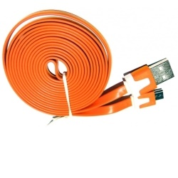 Aligator Datový kabel micro USB NOODLE orange