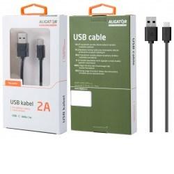 ALIGATOR Datový a nabíjecí kabel USB-C, 7,0 mm, 1m