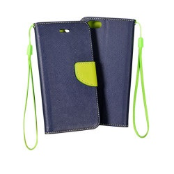Pouzdro FANCY BOOK IPHONE 4 Navy-Lime