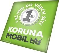 SIM karta Koruna Mobil a kreditem 200 Kč, 1 Kč/min