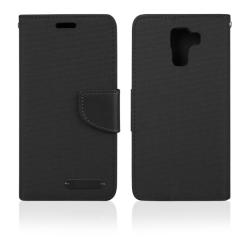 Pouzdro FANCY PRO BOOK Huawei Y6 II black canvas