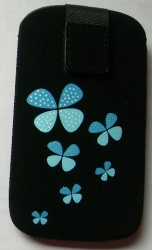 Pouzdro Aligator Fresh M Butterfly modré 115x65x10