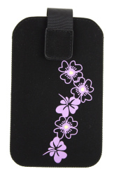 Pouzdro FRESH HTC HD2 BLOSSOM black 125x80x15mm