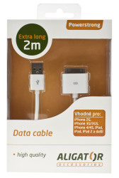 Powerstrong Apple iPhone2 Datový kabel USB 2m bílý