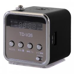 Mini Speaker TD-V26 black s FM rádiem