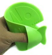 Silikonová chňapka ryba - zelená