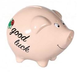 Pokladnička keramické prasátko Good Luck KG 101463