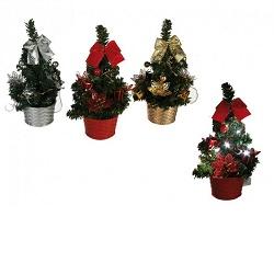 KG 950012 Vánoční stromek s dekorací a LED 20cm