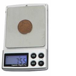 HS-500 Kapesní digitální váha 500gx 0,1g stříbrná