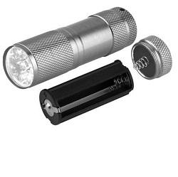LED svítilna kovová HLED-21, 9 x LED