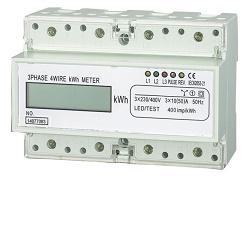 Elektroměr na DIN lištu třífázový dig. HT-353D