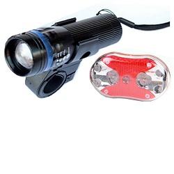 Soldier SJ0A LED svítilna 1W na kolo - sada