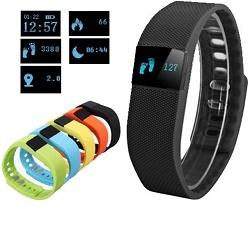 Fitness náramek OLED, Bluetooth 4.0, FT64 černý
