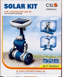 Smart Solar Kit 6v1 modrá Solární stavebnice