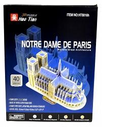 3D puzzle 2567 Notre Dame De Paris 40 dílků