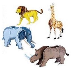 Skládačka 3D puzzle Zvířátka I Afrika 32 dílů