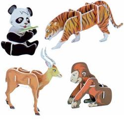 Skládačka 3D puzzle Zvířátka II Asie 32 dílů