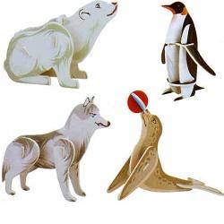 Skládačka 3D puzzle Zvířátka III polární 32 dílů