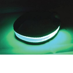 Svítící a blikající obojek velikost S, zelený