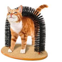 Purrfect arch - masážní kartáč pro kočky drbátko