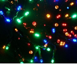 Vánoční venkovní LED řetěz barevný 100 LED
