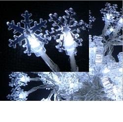 Vánoční venkovní osvětlení vločky 100 LED