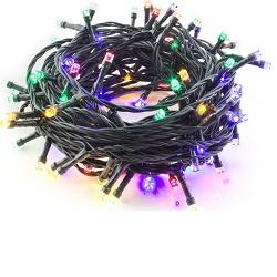 Vánoční LED řetěz barevný 100LED venkovní 8 režimů