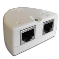 WaveRF Pasivní POE s LED diodou a ochranou - bílá
