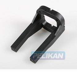 Lože motoru 45/61 long, černé plast, 7.5-10 cmm