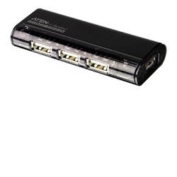 USB 2.0 HUB 4-portový bez nap.  magnetický černý