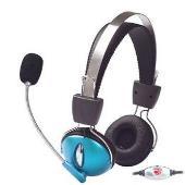 Manhattan 175548 sluchátka s mikrofonem, kov