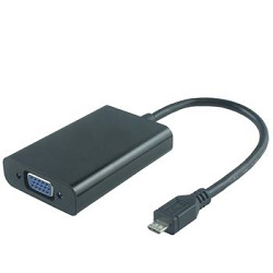 Převodník micro USB/HDTV na VGA s kabelem + nabíjí