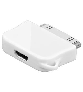 Adaptér Micro USB na Apple konektor pro iPod bílý