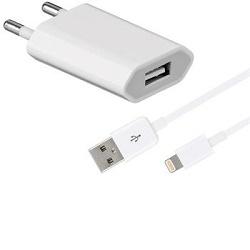 Apple iPhone 5 nabíječka 230V USB/1A + kabel bílý