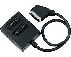 Rozdvojka SCART na 2xSCART F, kabel 0,5m