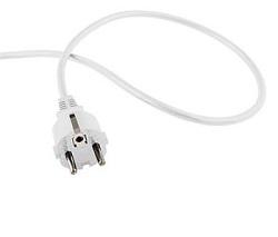 Flexo kabel 230V s rovnou vidlicí 2m bílý