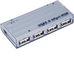 USB 2.0 HUB 4-portový s napájecím adaptérem 5V 2A