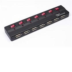 USB 2.0 HUB 7-portový s ext. napájením a vypínači