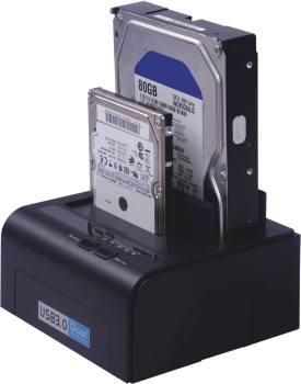 """USB3.0 HDD dokovací stanice pro dva 2.5""""/3.5"""" SATA"""