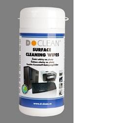D-CLEAN D-21 Čistící ubrousky 100ks na plast
