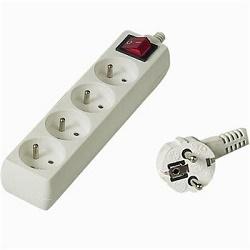 Prodlužovací kabel 2m 4 zásuvky vypínač 10A