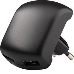 Napájecí adaptér 63790, 230V - 2x USB 5V/2A černý